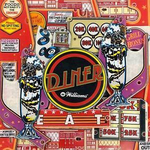 Williams Diner Pinball Machine Playfield Plastic Set NEW Silk Screened