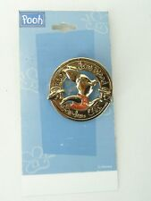 Disney  Pooh  Piglet  Gold Tone Brooch 100 Acre Wood Garden Club USA Seller