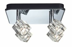 Paulmann Spotlights IceCube LED Balken 4x3W Chrom 230V Metall/Glas