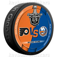 2020 Stanley Cup Playoffs Round 2 Dueling Puck Philadelphia Flyers vs Islanders