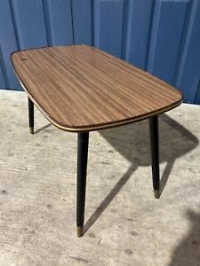 Retro Vintage Mid Century 1960s Coffee Table Formica Topped Kitsch Dansette Legs