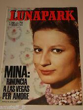 LUNAPARK=1965/39=MINA COPERTINA RIVISTA=BIAGIO PALATARI=ELEONORA TONI=AU14=