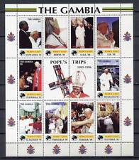 36293) GAMBIA 2000 MNH** Pope Visit: Slovenia, USA, Sout Africa...