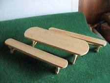 LOT TABLE ET BANC EN BOIS BRUT        CART 29