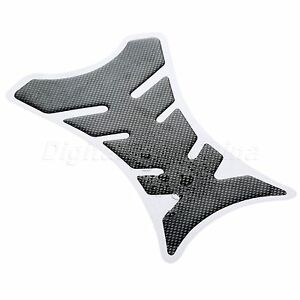 Carbon Fiber 3D Motorcycle Gas Fuel Tank Pad Protector Decal Sticker Universal