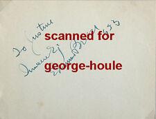 Edmund Breese - Autograph - 1933 - Marx Bros - John Wayne - Frank Capra