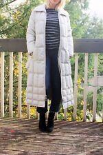 Vintage SLALOM GOOSE DOWN FILLED TRENCH COAT Gray Long Puffer Jacket Parka S M