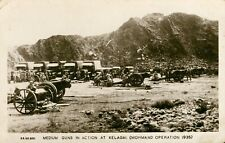 More details for medium guns in action at kelgai. mohmand operation 1935 (k c mehra & sons) india