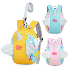Toddler Girls Baby Unicorn Backpack Safety Anti-lost Strap Rucksack with Reins