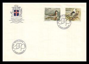 Iceland 1989 FDC, Birds IV. Lot # 6.