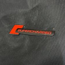 1PC Black Red Matte SUPERCHARGED Metal Sticker Badge Emblem Sport Track  Racing