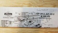 Athearn  gp38-2 long metal handrails (2) parts  ho locomotive gp40-2, gp50