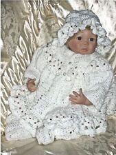 Crochet pattern Baby/Reborn: Melinda, 5 piece outfit CRO126 by Frandor Formats