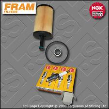 KIT di servizio PEUGEOT 307 1.4 8V BENZINA FRAM Olio Filtro NGK Candele (2001-2003)