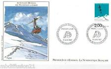 1987**ENVELOPPE**FDC 1°JOUR!!**TRANSPORTS A CABLES-GRENOBLE**TIMBRE Y/T 2480