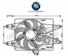 FOR FIAT DOBLO 1.3D 1.9D  MULTIJET 2005-> NEW RADIATOR COOLING FAN