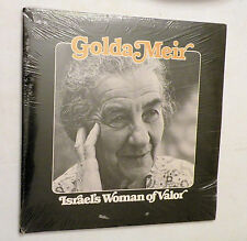 2-LP, Golda Meir Israel's Woman of Valor, Educational News Service, SEALED!!