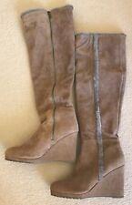 Lovely designer LK Bennett Verity camel narrow wedge boots 41, UK 8 RRP £350