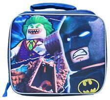 LEGO MOVIE BATMAN & JOKER DC COMICS Boys Lead-Free Insulated Lunch Tote Box NWT