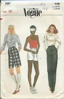 Vogue 7897 sewing pattern 80's Bermuda & Short SHORTS long PANTS sew retro UNCUT