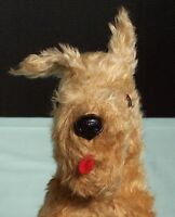 Vintage Mohair Pedigree Terrier  Dog. England Character Toy.