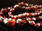 Vintage Art Deco Bakelite Cherry Amber Faceted Beads Necklace