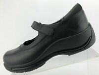 Dansko Mary Jane Black Leather Adjustable Strap Comfort Shoes Womens 38 US 7.5/8