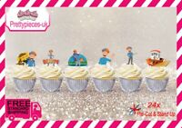 Blippi 24 Stand-Up Pre-Cut Wafer Paper Cup cake Toppers