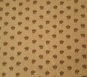 Cabin Cloth II BTY Carol Endres Spectrix Civil War Reproduction Floral Brown Tan