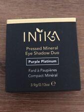 NEW: INIKA Pressed Mineral Eye Shadow Duo Purple Platinum 3.9g