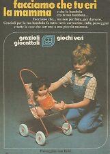 X7622 Passeggino con Bebè - Grazioli Giocattoli - Pubblicità del 1977 - Advert.