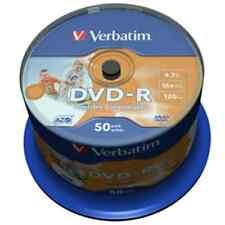 Campana 50 pezzi DVD-R 16x Printable Stampabili NO ID Verbatim