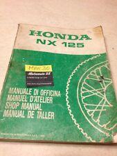 Honda NX125 NX 125 revisión técnica motorrad manual de taller