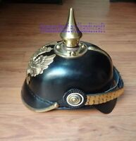 Leather Helmet German Pickelhaube Prussian Imperial Officer's Garde