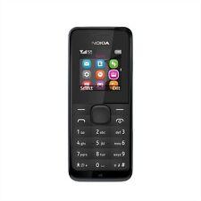 MICROSOFT NOKIA 105 MOBILE PHONE BLACK FM RADIO UNLOCKED SIM FREE BURNER BNIB