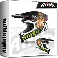 AIROH WRPU17 INTEGRALHELME OFF-ROAD MOTORRAD MATT WRAAP PIN-UP XS