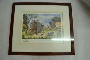 'THE HORSEBOX' THELWELL PICTURE FRAMED ##BLACL59