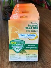 """Tropiclean Natural Flea & Tick Collar S / M Fits up to 20"""" neck Free US Shipping"""
