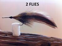 Tarpon Fly Apte II Furnace 2 Flies size #1/0 Mustad 34007  Hook stainless steel