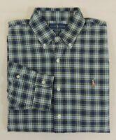 Polo Ralph Lauren Pony Tartan Plaid Oxford Long Sleeve Classic Fit Dress Shirt L