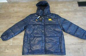 Air Jordan Michigan Wolverines Football Performance Coat Parka Jacket Men's 2XL