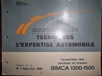 SIMCA 1300 1500 - Revue technique L'Expertise Automobile (pièces rechange)