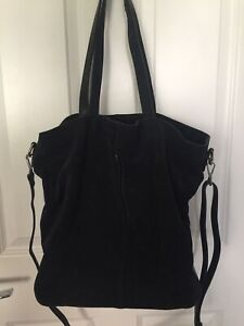 Clarks Extra Large Genuine Leather Suede Tote Bag