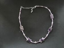 Park Lane Jewelry Silver and Purple Stone Necklace: Retired!
