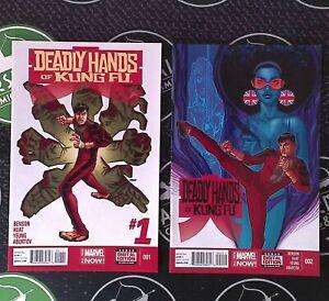 Deadly Hands of Kung Fu #1 2 3 4 2014 Marvel Comics Complete Set Shang Chi MCU