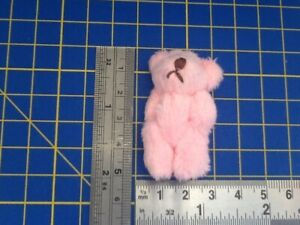 Pink Fluffy Teddy Bear Dolls House Miniature Nursery Toy Shop