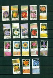 BUND Blumen-Dauerserie, 18 Werte mit sauberen Ersttagsstempel