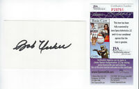 BREWERS Bob Uecker signed 3x5 index card JSA COA AUTO Autographed Milwaukee HOF
