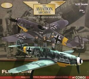 CORGI MESSERSCHMITT Bf 109 G-6 FLIGHT LINE COLLECTION LIMITED EDITION 1/32