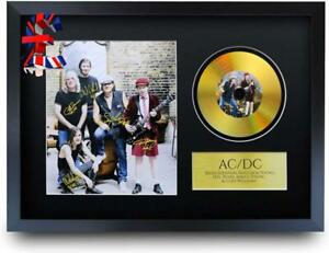 QUALITY A3 Size  ACDC Malcolm Angus Young Brian Johnson Gifts Signed Autograph